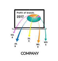 Chart showing profit of the company vector