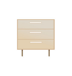 chest of drawers closeup vector image