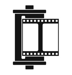 color camera film icon simple style vector image