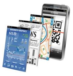Concept - Smartphone Applications vector