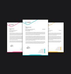 corporate letterhead letterhead template design vector image
