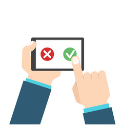 Customer review or feedback concept rating system vector