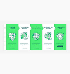 dieting patterns onboarding template vector image