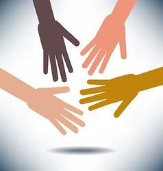 Diversity Image with Hands vector