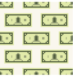 dollar banknote cash pattern seamless tile vector image