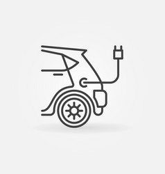 electric car concept icon in line style vector image