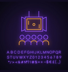 Esports neon light icon vector