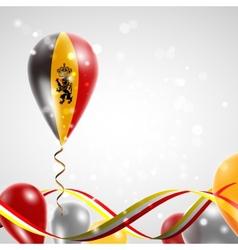 Flag of Belgium on balloon vector