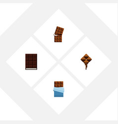 flat icon bitter set of dessert wrapper bitter vector image