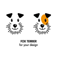 Fox Terrier dog icon vector image