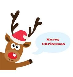 funny reindeer vector image