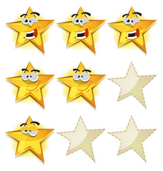 funny stars icons for ui game score vector image