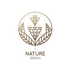 Geometrical flower logo vector