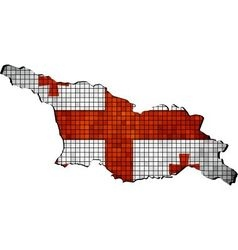 Georgia map with flag inside vector image