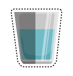 Glass kitchen tool isolated icon vector