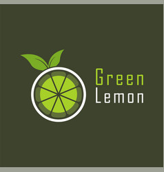 green lemon logo design template for your company vector image