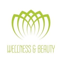 Green lotus icon vector image