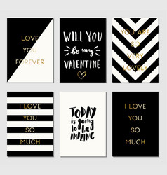 Greeting cards collection vector