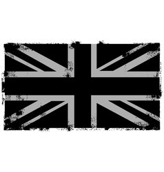 grunge black british background vector image
