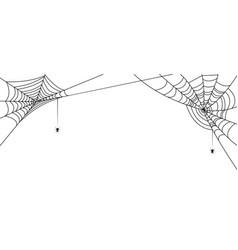 Halloween banner with spiderwebs and spiders vector