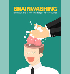 hand wash and cleaning businessman brain vector image