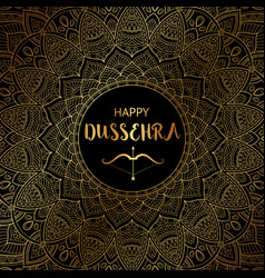 Happy dussehra background decorated with vector