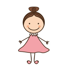 happy woman cartoon icon vector image