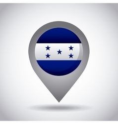 honduras flag pin vector image