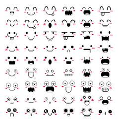 Kawaii face icon design vector