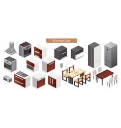 kitchen modern interior vector image