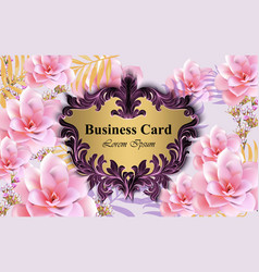 luxury card with water lily flowers vector image