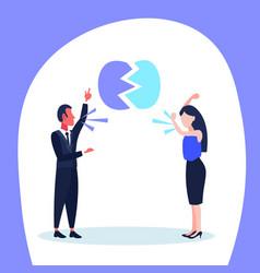 man woman quarrel business conflict situation vector image