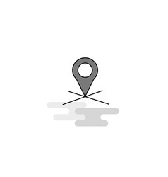 map location web icon flat line filled gray icon vector image