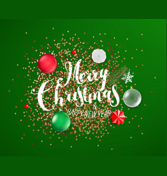 Merry christmas and happy new year different vector