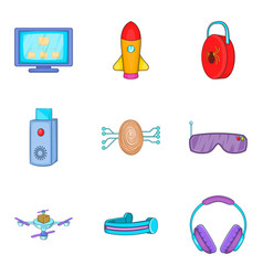 Modern lifestyle icons set cartoon style vector