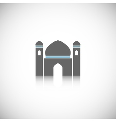 Mosque icon isolated vector