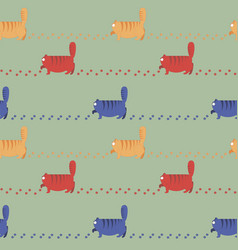 multicolored thick cats stroll vector image