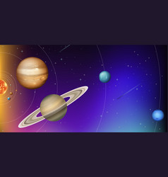 orbit of planets in space vector image