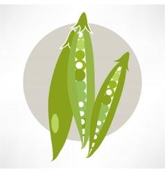 Peas green cartoon vector