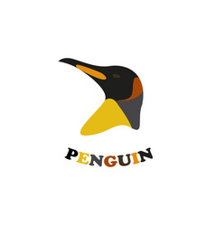 Penguin head vector