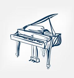 piano sketch line design vector image