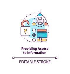 Providing access to information concept icon vector