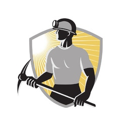 Retro Coal Miner vector