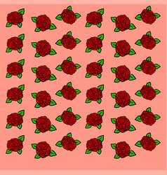 roses wallpaper on white background vector image