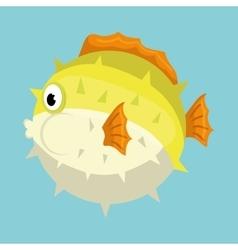 Sea fauna cartoon vector image vector image