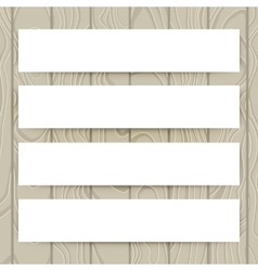 Set of white paper collection blank banners vector image