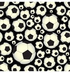 Soccer and football balls dark seamless pattern vector