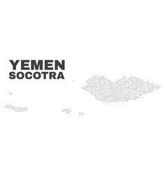 Socotra archipelago map of dots vector