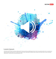 Sound volume icon - watercolor background vector