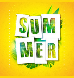 Summer holiday typographic vector